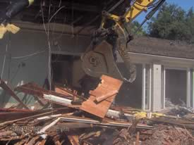 Los Angeles home demolition